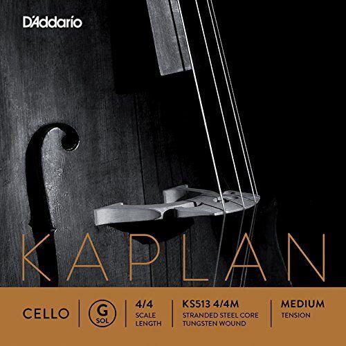 D'Addario Kaplan Cello Single G String, 4/4 Scale, Medium Tension