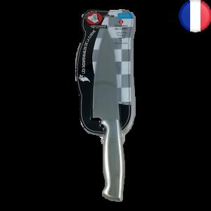 Couteau de chef professionnel 32,5cm en acier inoxydable lame large et rigide