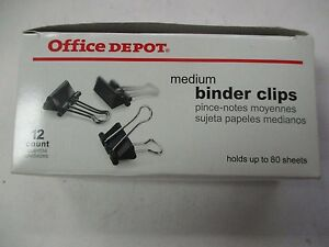 Office-Depot-429-431-New-Medium-Binder-Clips-12-ct