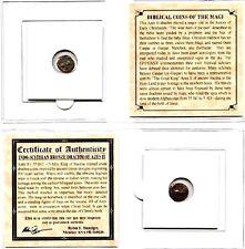 ANCIENT Biblical Coin of The Magi,Bronze,35 BC-5 AD,& Mini Album, Certificate