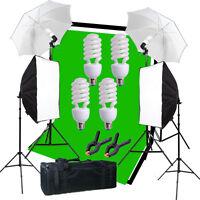 Studio Light Video Photo Softbox Photography Kit Muslin Backdrop Lighting Kit