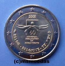 Belgien 2 Euro Gedenkmünze 2008 Menschenrechte Euromünze commemorative coin