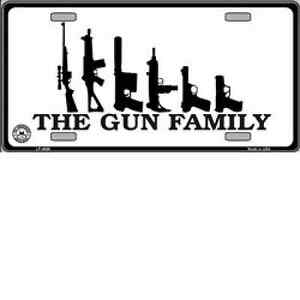 The-Gun-Family-Metal-Novelty-License-plate