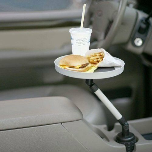 Automobile Swivel Tray Car Truck Food Snacks Pen Paper Change Cup Holder