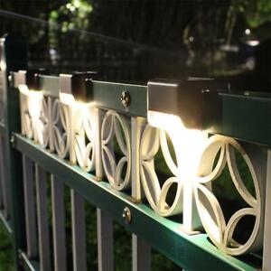 4x-LED-Solar-Deck-Lights-Waterproof-Outdoor-Pathway-Yard-Stairs-Fence-Lamps