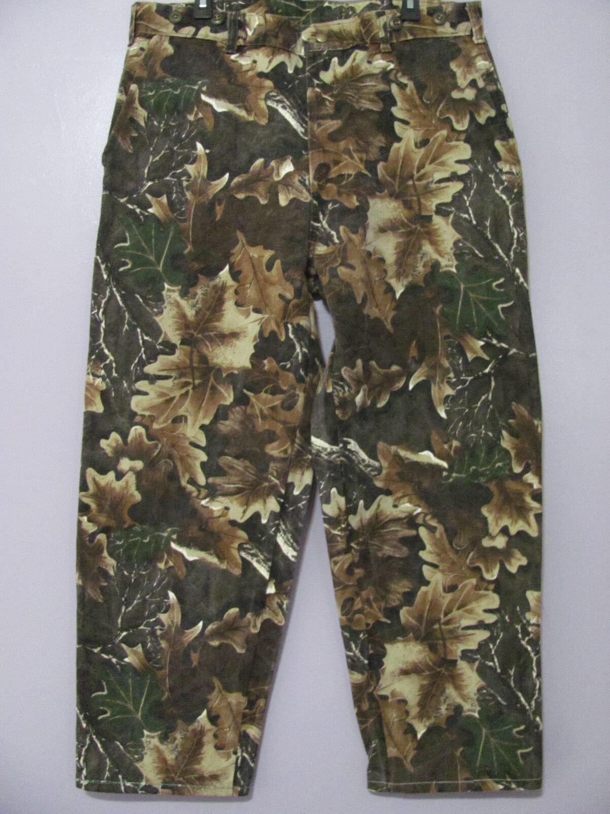McAlister De Colección Algodón Encerado Paño De Estaño Camo Caza Pantalones MSR 37 x28.5 GUC