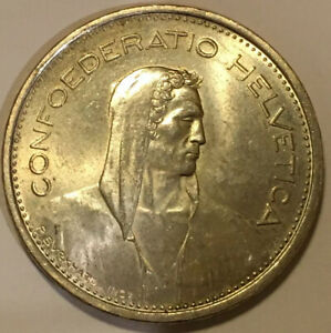 1966-Switzerland-Silver-5-Francs-Silver-Coin-15-2g-free-combine-shipping