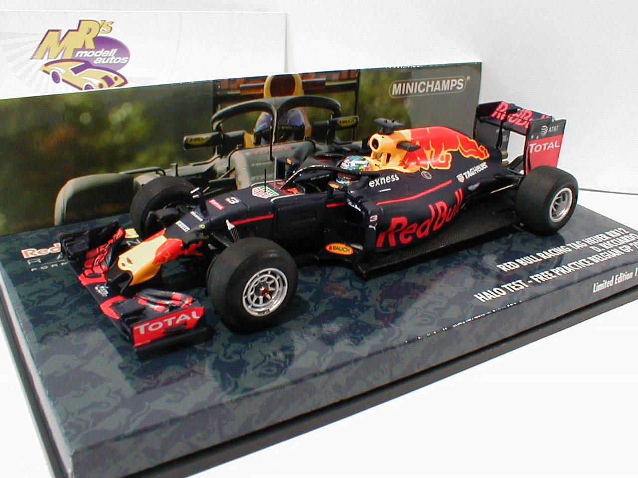 Minichamps 417160903 - Red Bull RB12 No3 Halo Test Test Free Practice Belgien 1 43
