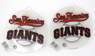 2- San Francisco Giants Mlb Baseball Auto/casa Decalcomania Cling W/ventosa