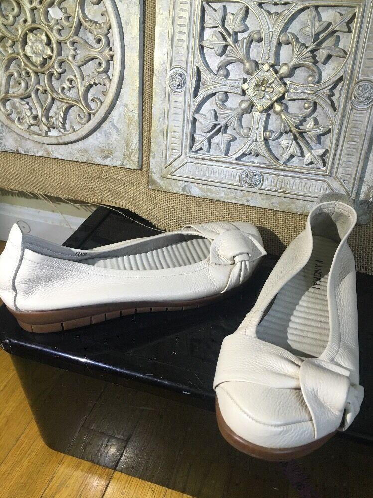 Kangnai Orthopedic Very Soft Rubber Sole Genuine Leather Flats Sz 7.5  24 Cm