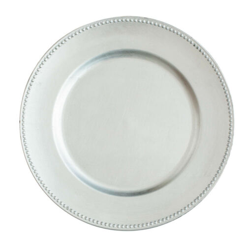 """Event /& Wedding Decor Home Richland Charger Plates 13/"""" Beaded Set of 12"""