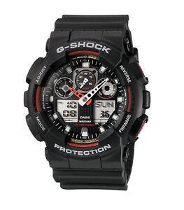 645e153798b35 Casio G-Shock GA100-1A4CR Classic Series Men s Black Red Resin Ana ...