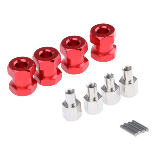 Aluminium 12mm Radnaben mit Radmitnehmer 15mm Für 1//10 Wraith CC01 RC LKW #2