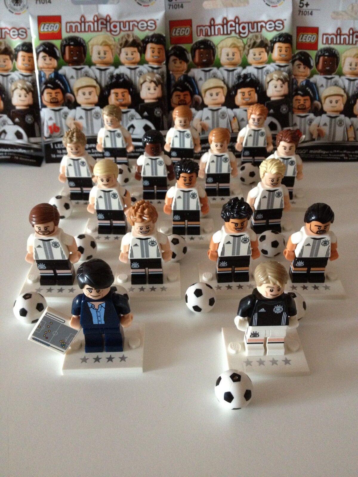 LEGO MINIFIGUREN 71014 DFB DIE MANNSCHAFT Fussball NEU Deutschland Komplett Set