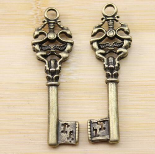 wholesale:6//20//60 pcs Retro style lovely The key charms Pendants  51x15 mm