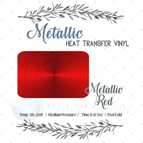 3 Metallic Heat Transfer Vinyl for T shirt Vinyl Garment HTV 1 FT 1 5 YDS