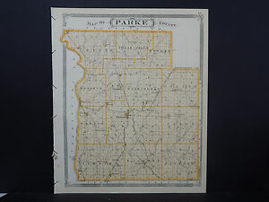 Indiana Maps 1876 Parke County N2 42 Ebay