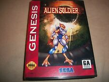 Sega Genesis Alien Soldier NTSC Game + Box