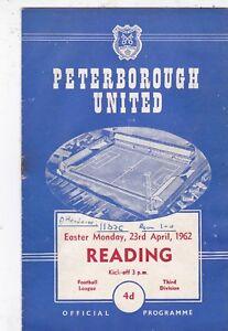 PETERBOROUGH-UNITED-V-READING-3RD-DIVISION-23-4-62
