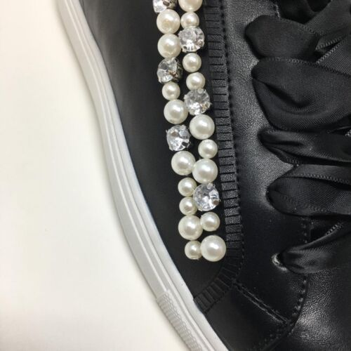 4 8 7 5 6 GOLD /& GOLD Black Pearl Trainers UK 3