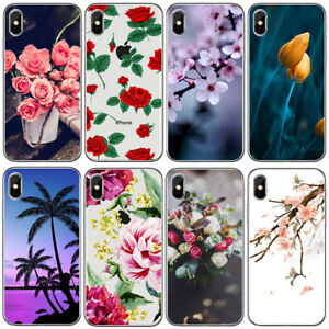 For Iphone 6 6S 7 8 Plus X Cute Flower Pattern Soft Slim Rubber Phone Case Cover