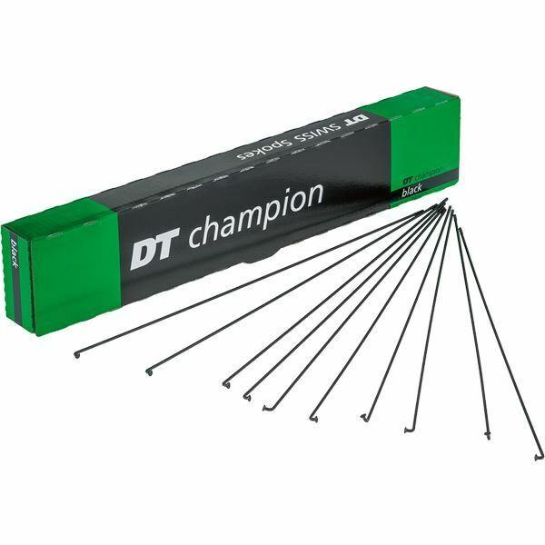 DT Swiss Champion raggi Nero 14g = 2mm BOX 100, 186 mm