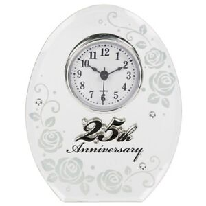 25 Wedding Anniversary Gift.Details About 25th Wedding Anniversary Clock 25 Years Of Marrage Silver Anniversary Gift Uk