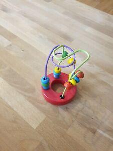 Details zu Motorikschleife, Perlen Labyrinth mit Holzperlen, Pädagogische Spielzeug