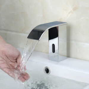 Image Is Loading Chrome Automatic Sensor Hands Free Touchless Bathroom Faucet