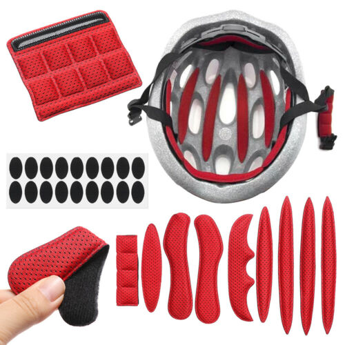 Helmet Padding Kit 27Pcs Sponge Pad Bike Motorcycle Bicycle Replacement Pads Set