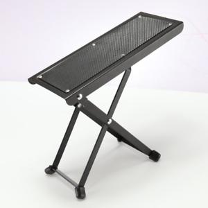 guitar foot stool footrest rest classic and acoustic adjustable black ebay. Black Bedroom Furniture Sets. Home Design Ideas