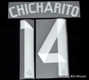 633eb399f Real Madrid Chicharito 14 La Liga Football Shirt Name Set 2014 15 ...