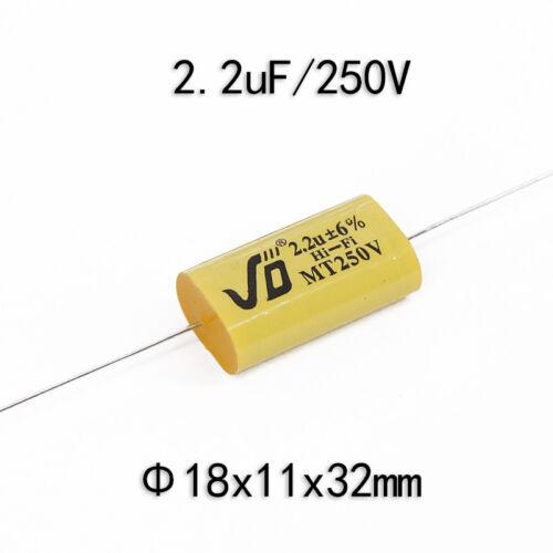 2pcs 1.0 ~ 22uF 250 V haut-parleur Diviseur Crossover non-polarité Condensateur pour Jiedeng