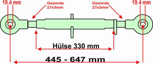 1//1 für Fahr und Güldner Schlepper Oberlenker Kat Traktor