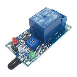 IR-Infrared-Fire-Detector-Flame-Detection-Sensor-Relay-Module-5V-12V-for-Arduino