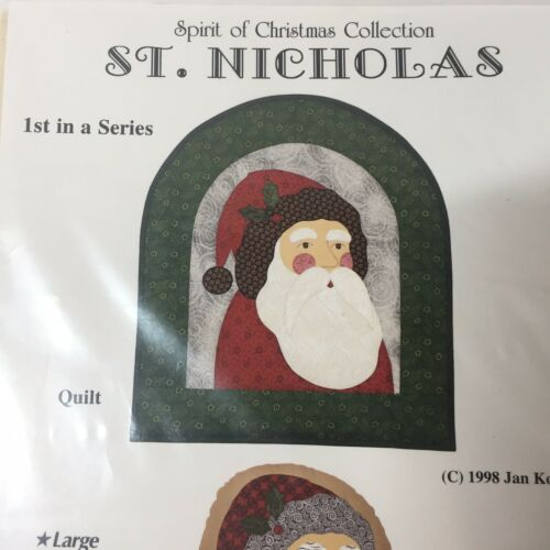 St Nicholas Quilt Pattern 1st in Series Country Applique