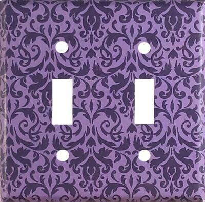 Turquoise Damask Design Decorative Double Toggle Light Switch Wall Plate Cover Standard//Midway or Jumbo Size