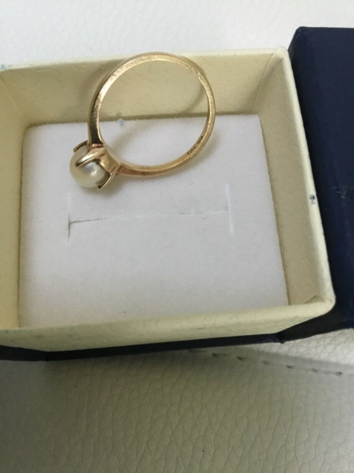 Vintage 10k gold and pearl - image 3