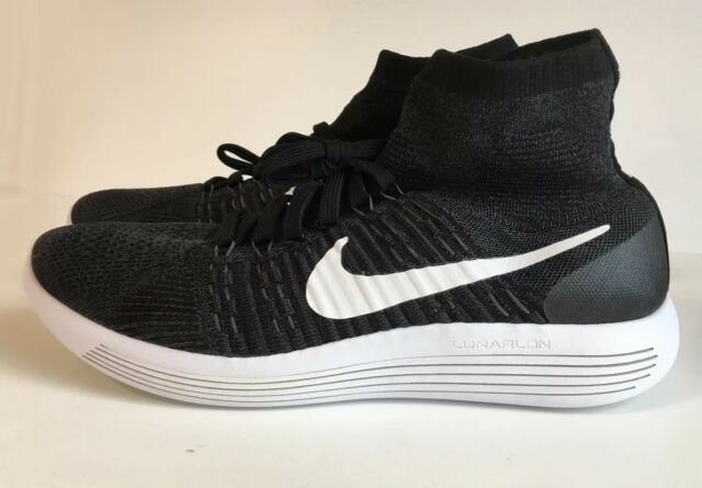 outlet store 8354b 9143d Nike Lunarepic Flyknit Running Shoes Mens 11 Black White Anthracite 818676  007