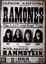 RAMONES - 1996 - Konzertplakat - Rammstein - Amigos - Tourposter - Berlin
