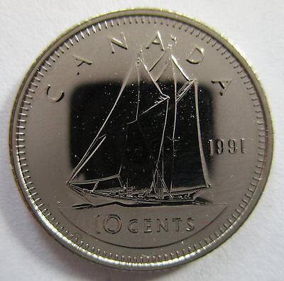 Canada 1991 Specimen Gem Ten Cent Dime!!