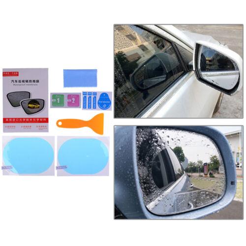 2x rainproof car rearview mirror sticker anti-fog protective film rain shieN L1F