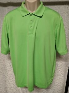Tommy Armour Dri Logic Polo Golf Active Shirt Size L MENS Lime Green
