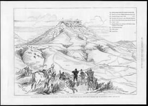 1881-Antique-Print-SOUTH-AFRICA-Transvaal-Sketch-Plan-Battle-Majuba-Hill-206