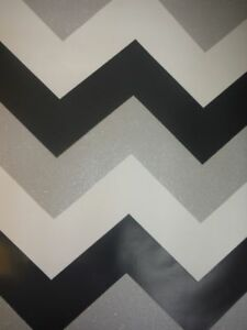 Image Is Loading Silver White Glitter Wallpaper Sparkle Chevron Zig Zag