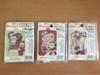 Bucilla Christmas Collectibles Gallery Of Stitches Ornament Kits Three Vtg