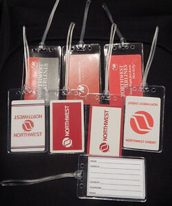 Luggage-tag-Northwest-Airlines-w-playing-card-choose-from-multiple-designs