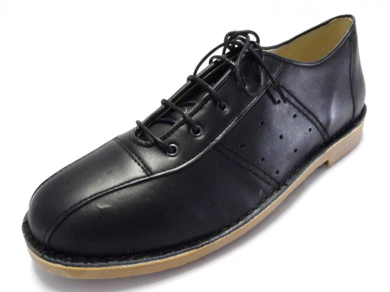 Ikon Marriott Ik20498  Mens  Bowling Shoes Black Leather Mods Rocked 60S