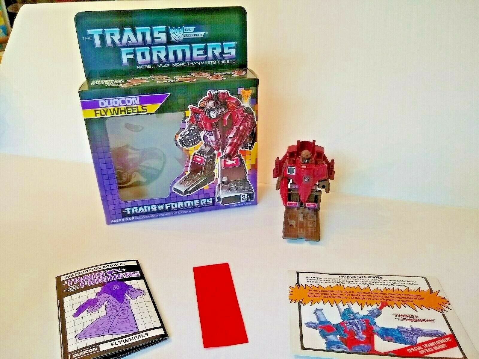 Transformers G1 duocon volantes con Caja Vintage 100% completo bytakara 1986