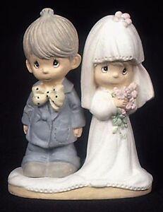 Enesco-Precious-Moments-Resin-Wedding-Couple-2-3-4-034-Tall-Retired-434418-S-NEW